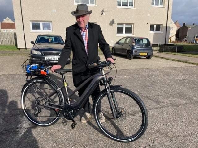 Jim and his new bike.
