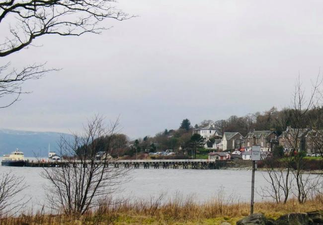Design options are being examined for how a new ferry for the Kilcreggan-Gourock link might berth in the village (Photo - Sharon Guest)