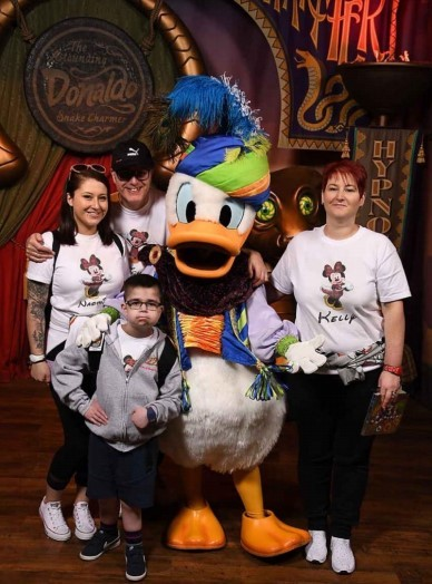 Mackenzie Cameron and his big sister Naomi and parents Richard and Kelly havent been able to holiday in Disneyland this year due to the pandemic