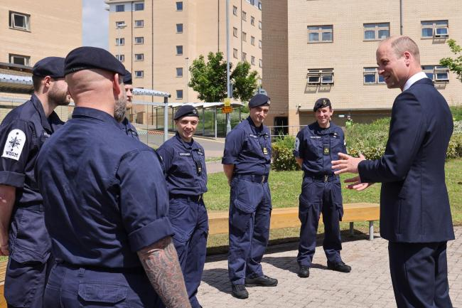 The Prince meets Royal Navy submariners in the Submariner Memorial Garden