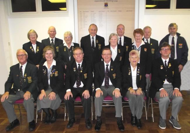 Helensburgh Bowling Club's 2016 committee