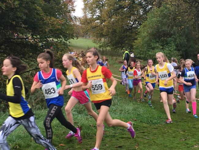 Helensburgh's Jenny Scott in action at Scottish Athletics' National Cross Country Relays