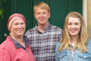 Karen, Andrew and Helen are set to walk five miles for Breast Cancer Care