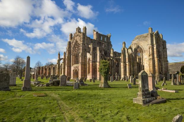 Helensburgh Advertiser: Melrose Abbey remains the most popular paid-for attraction in the Borders