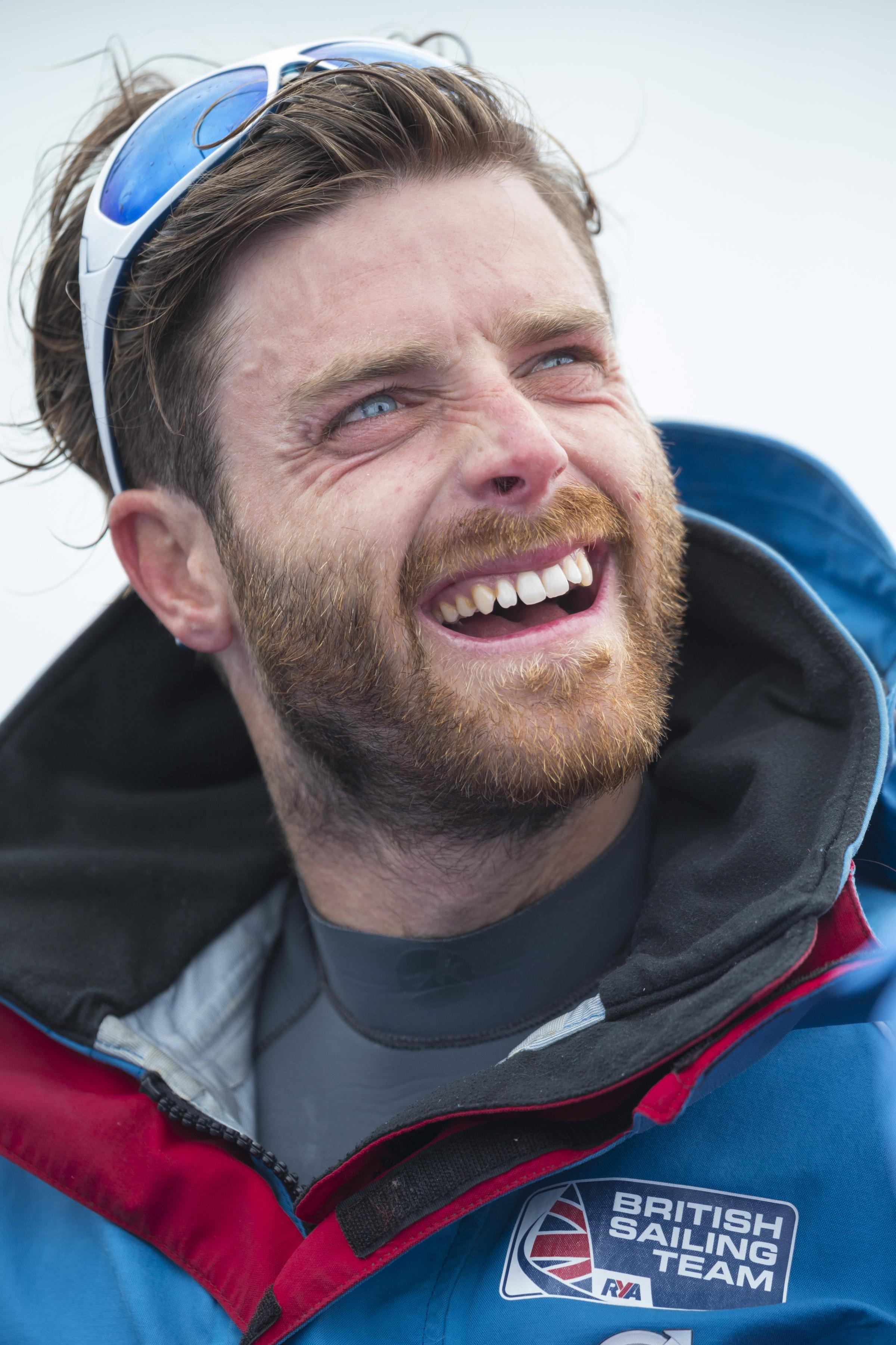 British Olympic sailor Luke Patience, who with team-mate Chris Grube, won bronze in the 470 Men's class on day five of the ISAF Sailing World Cup at the Weymouth and Portland National Sailing Academy, Weymouth.