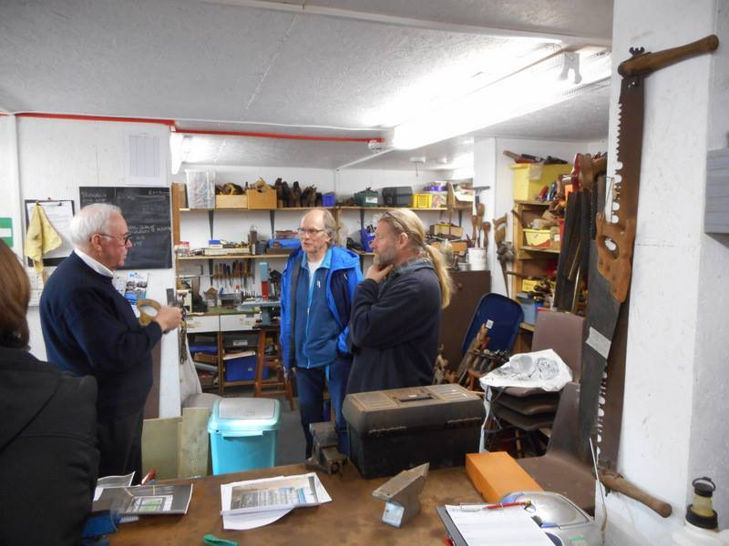 Members of Helensburgh and District Men's Shed Association visited their counterparts in Kinghorn last year to see how the Fife group's operation works (Pic - Facebook)