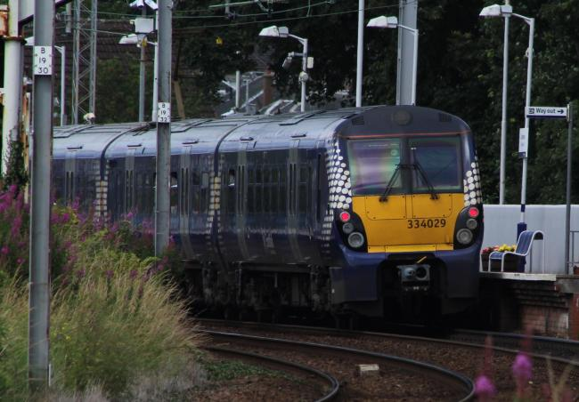 Steven Gilmartin kicked off on board a train from Dalmuir to Helensburgh