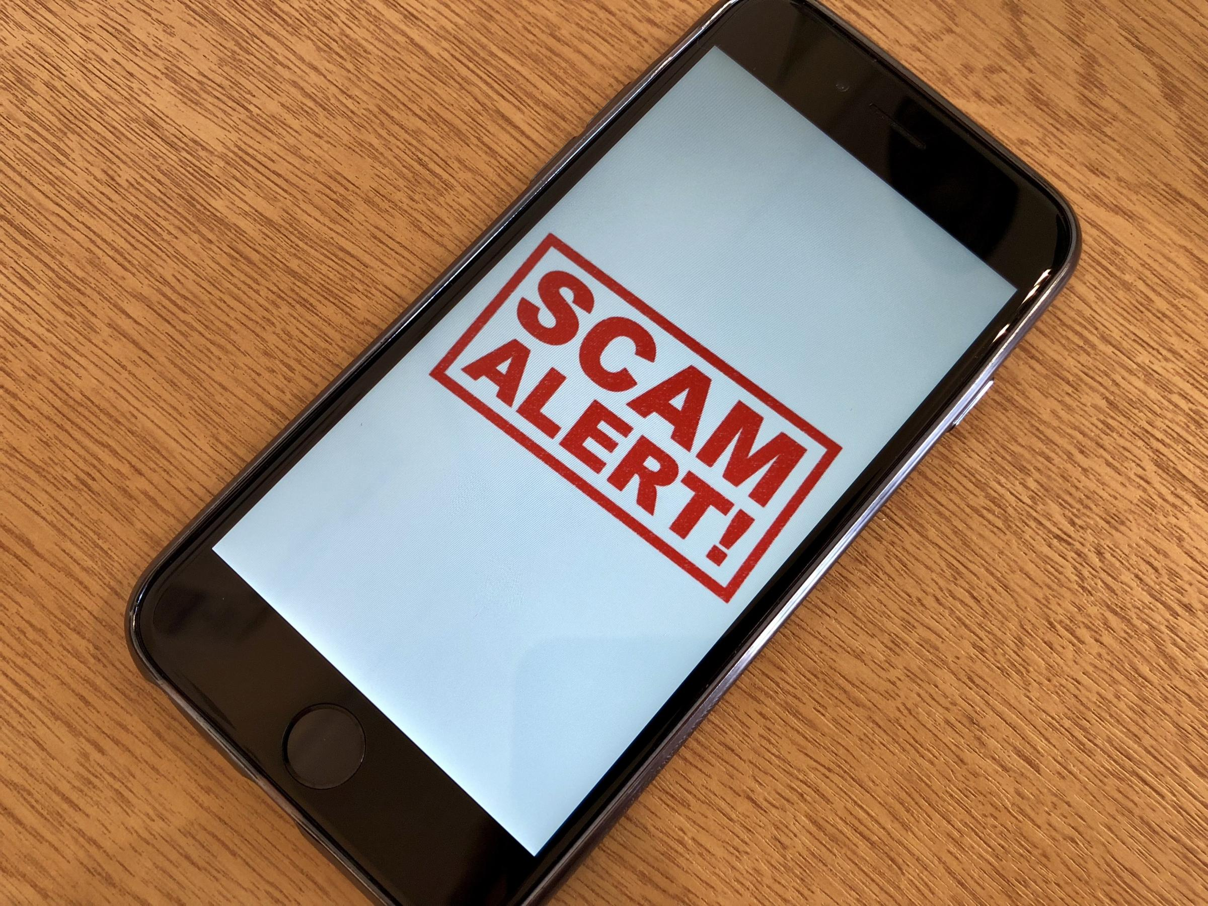 Fraudsters are using SMS-messages and emails