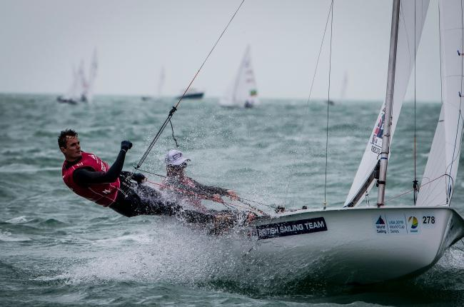 Luke Patience and Chris Grube are in pole position Picture: SAILING ENERGY/WORLD SAILING