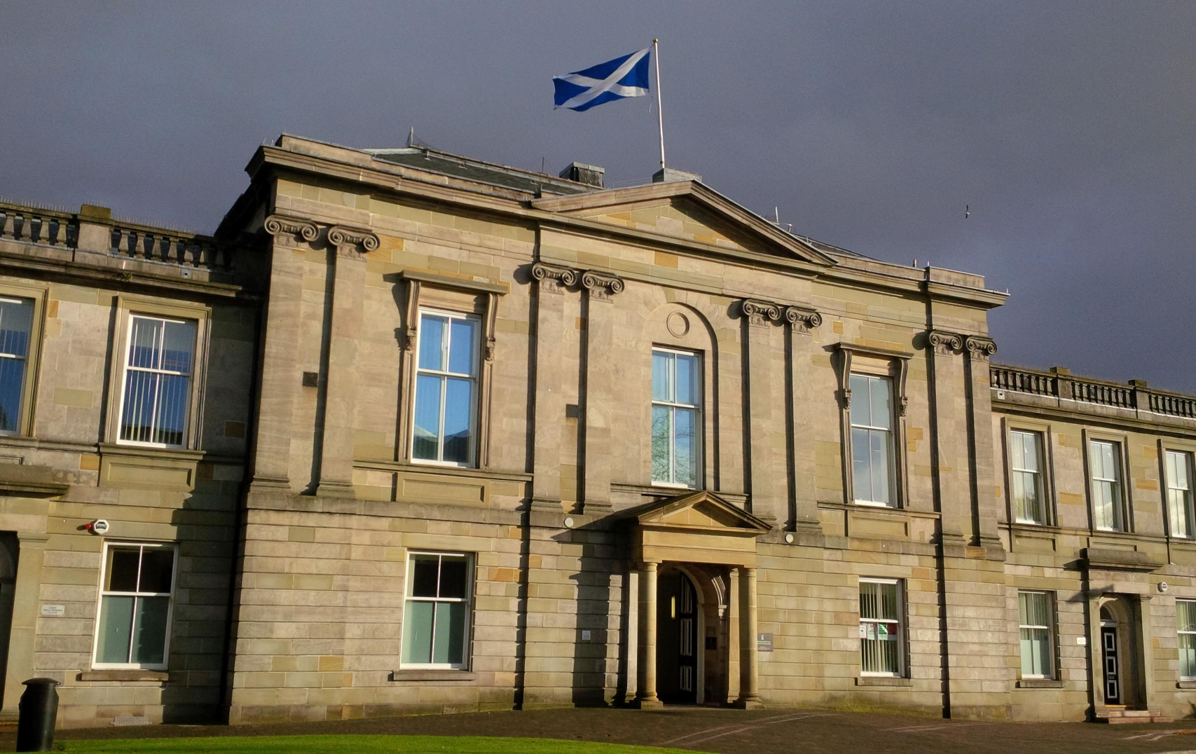 Dumbarton Sheriff Court, where the sheriff made his comments.