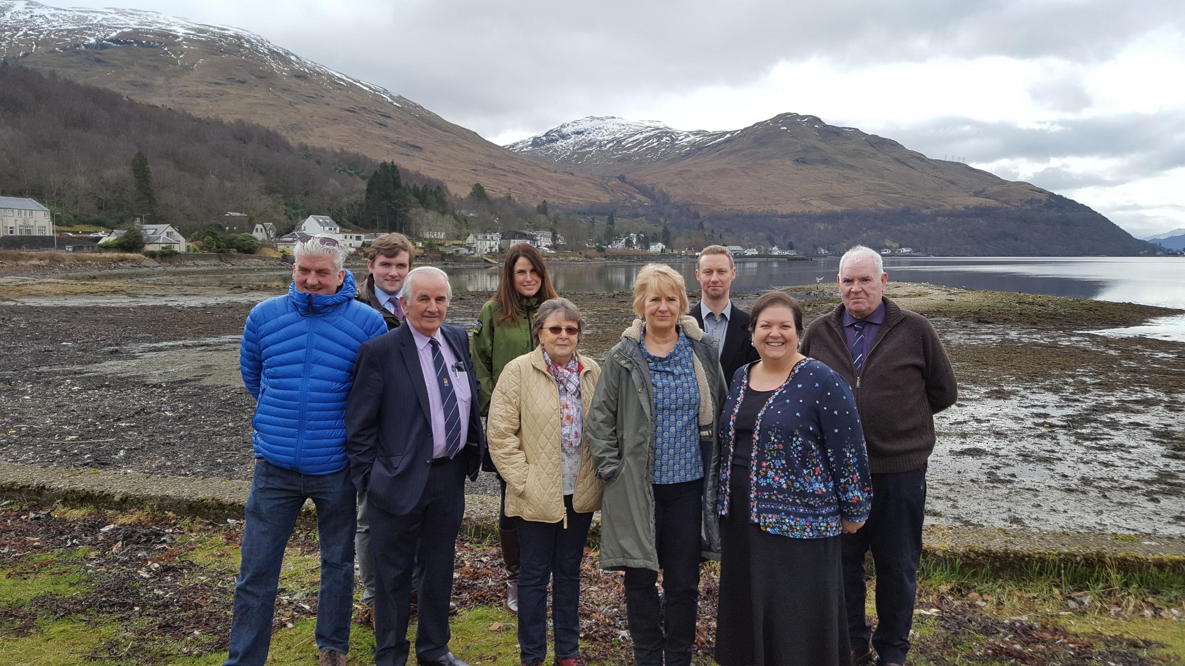 Environment secretary Roseanna Cunningham saw the scale of Arrochar's marine litter problem on a visit to the village in March