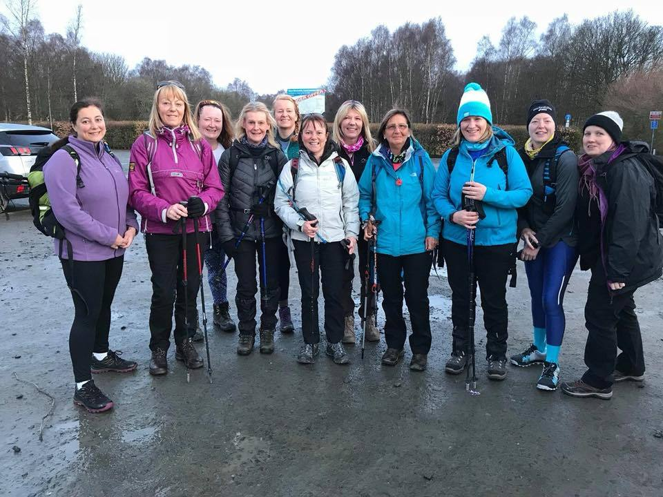 Some of the hikers who completed the 3 Lochs Ultra event - despite the official cancellation (Pic - Sheila Kent)