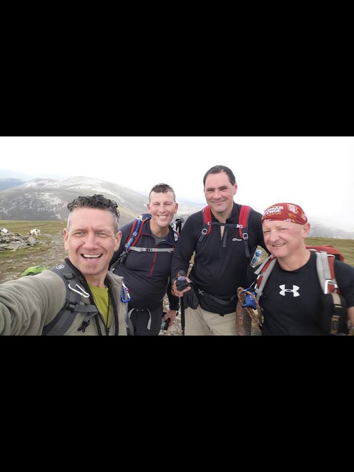 Kenny, Stewart, Colin and Duncan will walk the West Highland Way with their colleagues Mark and Iain