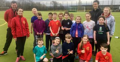 Participants in Helensburgh AAC's Easter coaching camp