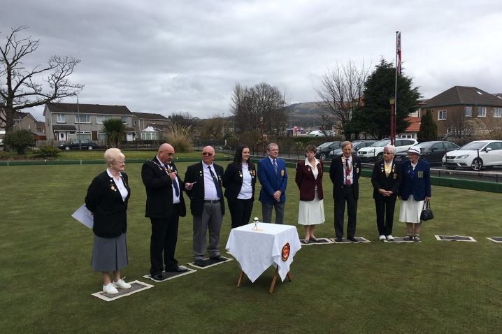 Colgrain Bowling Club's green opening ceremony on Saturday (Pic - @colgrainbowling on Twitter)