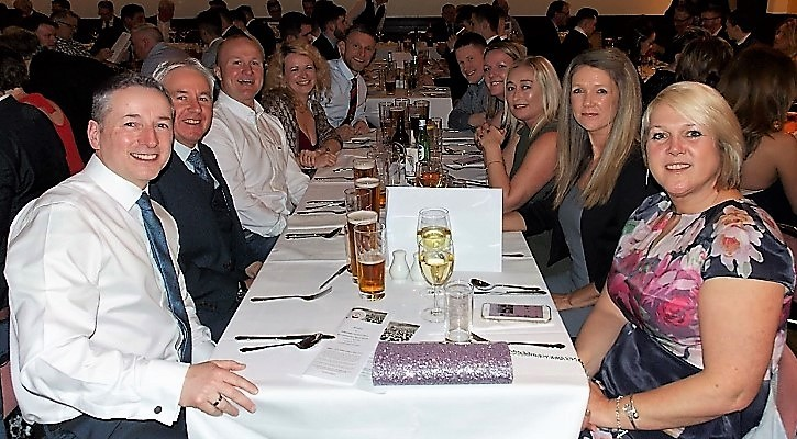 Guests at Ardencaple FC's 50th birthday sportsman's dinner in April