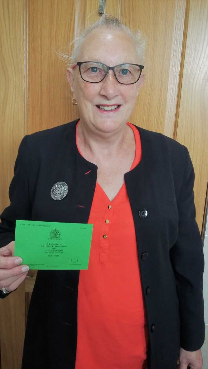 Christine Johnstone received her invite in the post last week