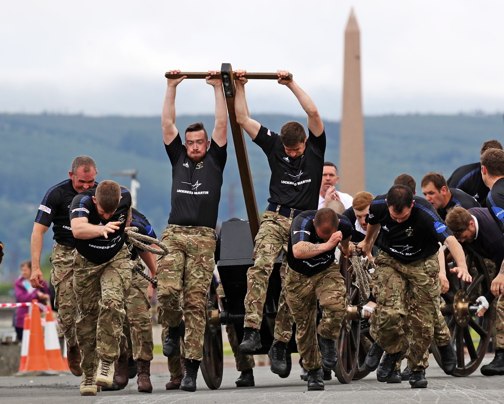 The HMS Neptune team during last year's demonstration in Helensburgh.