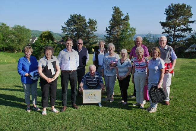 Helensburgh Golf Club's mixed senior open prize winners