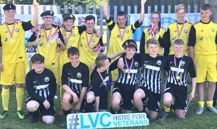 Helensburgh FC's 2003s celebrate their joint tournament victory in Edinburgh