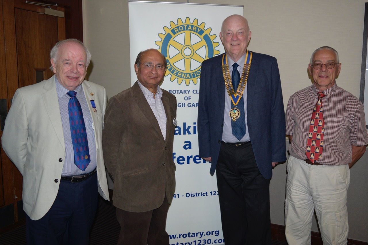 President Norman Quirk, vice president Nigel Box, junior vice president Professor Tariq Durrani and immediate past president, and now secretary, John Macpherson