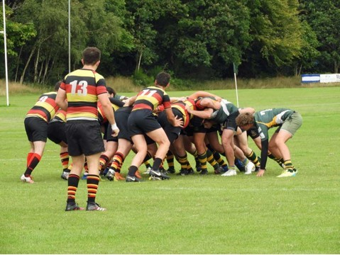 Helensburgh apply pressure at the scrum during Saturday's friendly