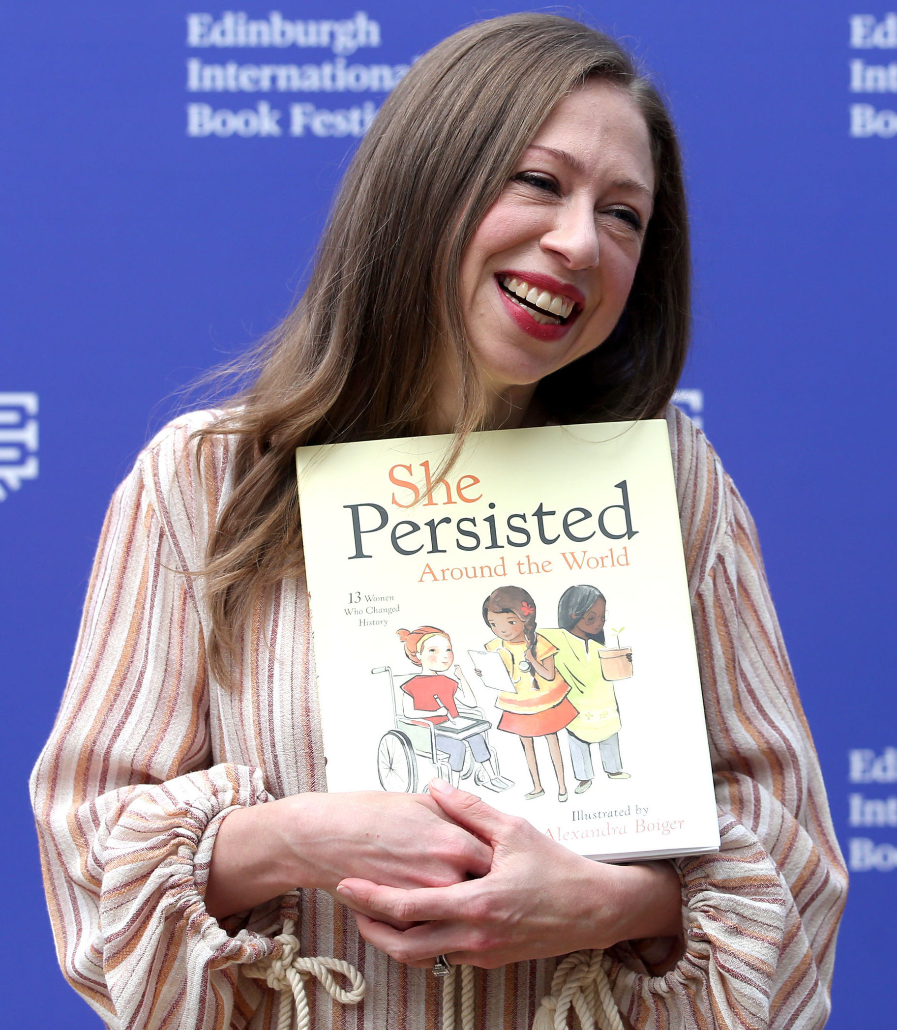 American advocate and author Chelsea Clinton during a photocall at the Edinburgh International Book Festival in Charlotte Square Gardens, Edinburgh. PRESS ASSOCIATION Photo. Picture date: Monday August 20, 2018. Photo credit should read: Jane Barlow/PA Wi