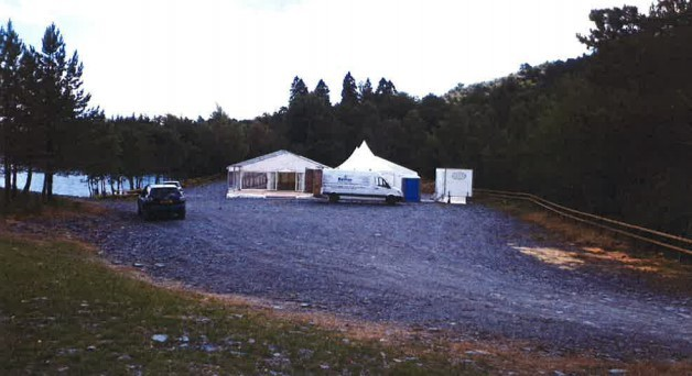Marquees hosting a previous wedding at the proposed site. Picture from Luss Estates' supporting statement.