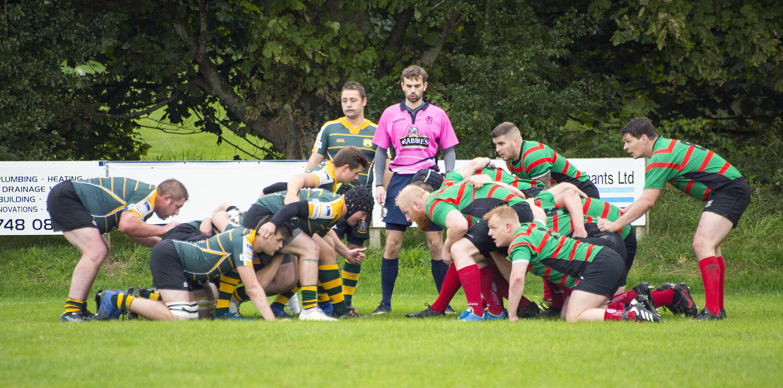 Action from Helensburgh's 49-28 loss at home to Oban Lorne on Saturday