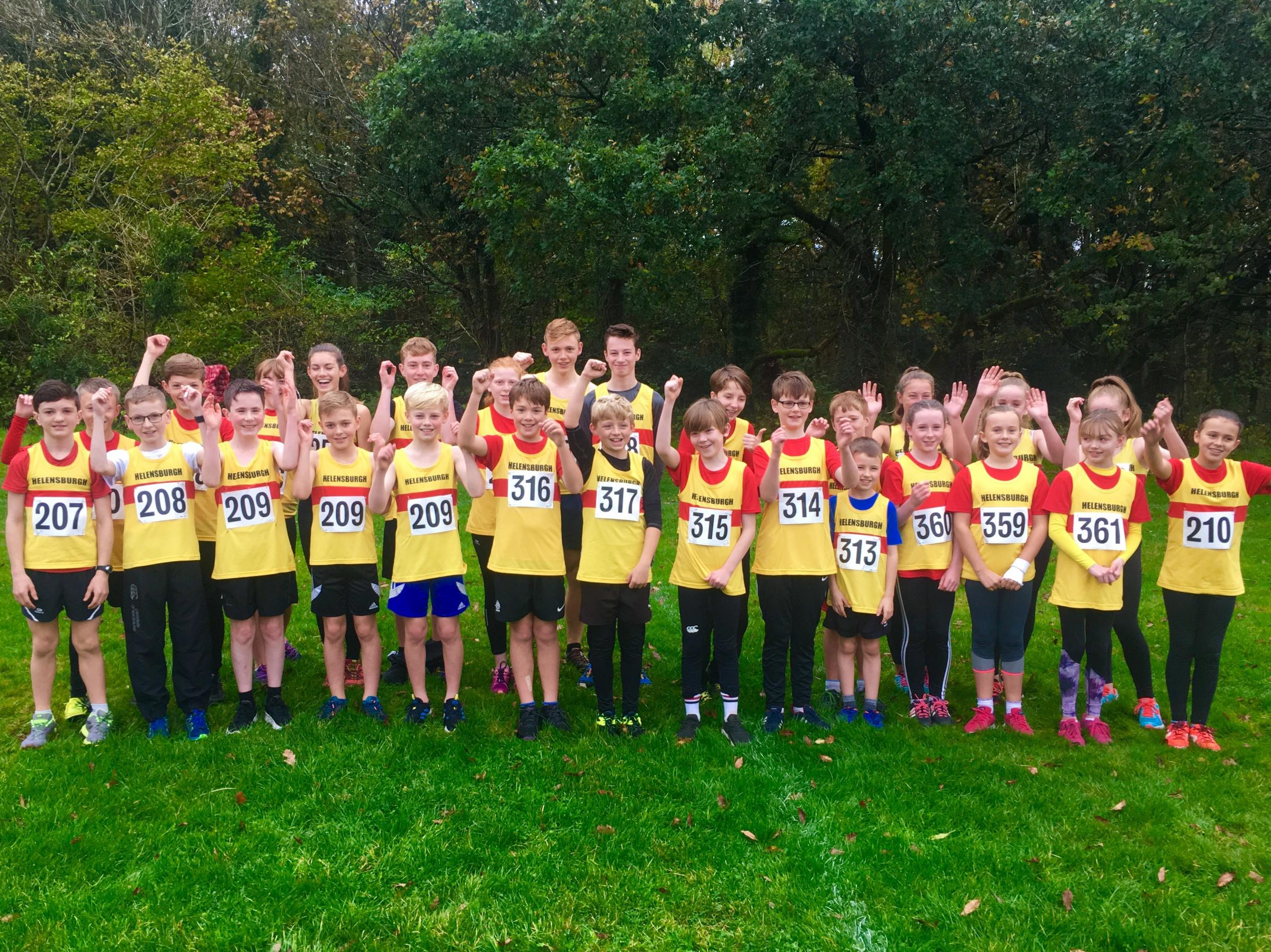 The young Helensburgh runners