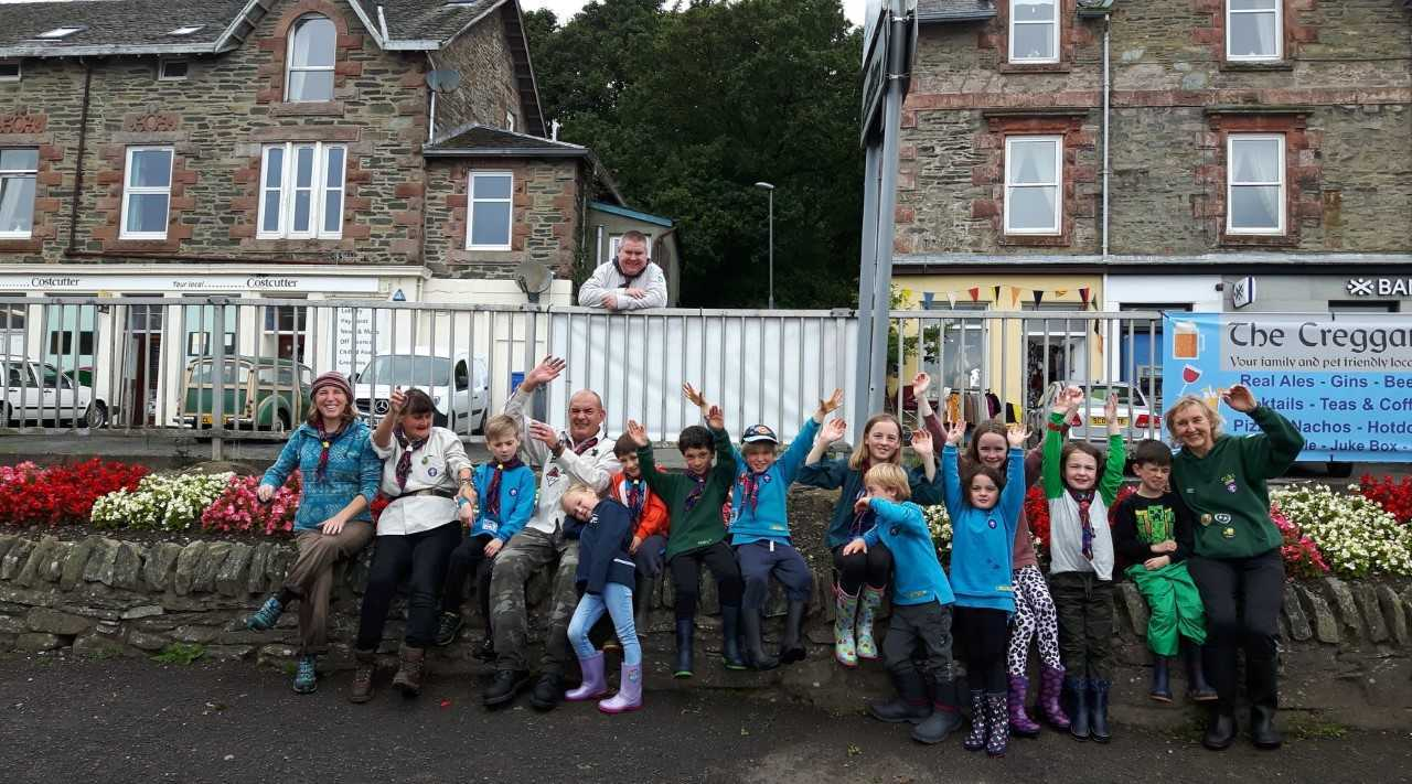 Scout group giving back to community