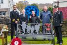 The new remembrance memorial bench unveiled on Sunday next to Garelochhead Parish Church
