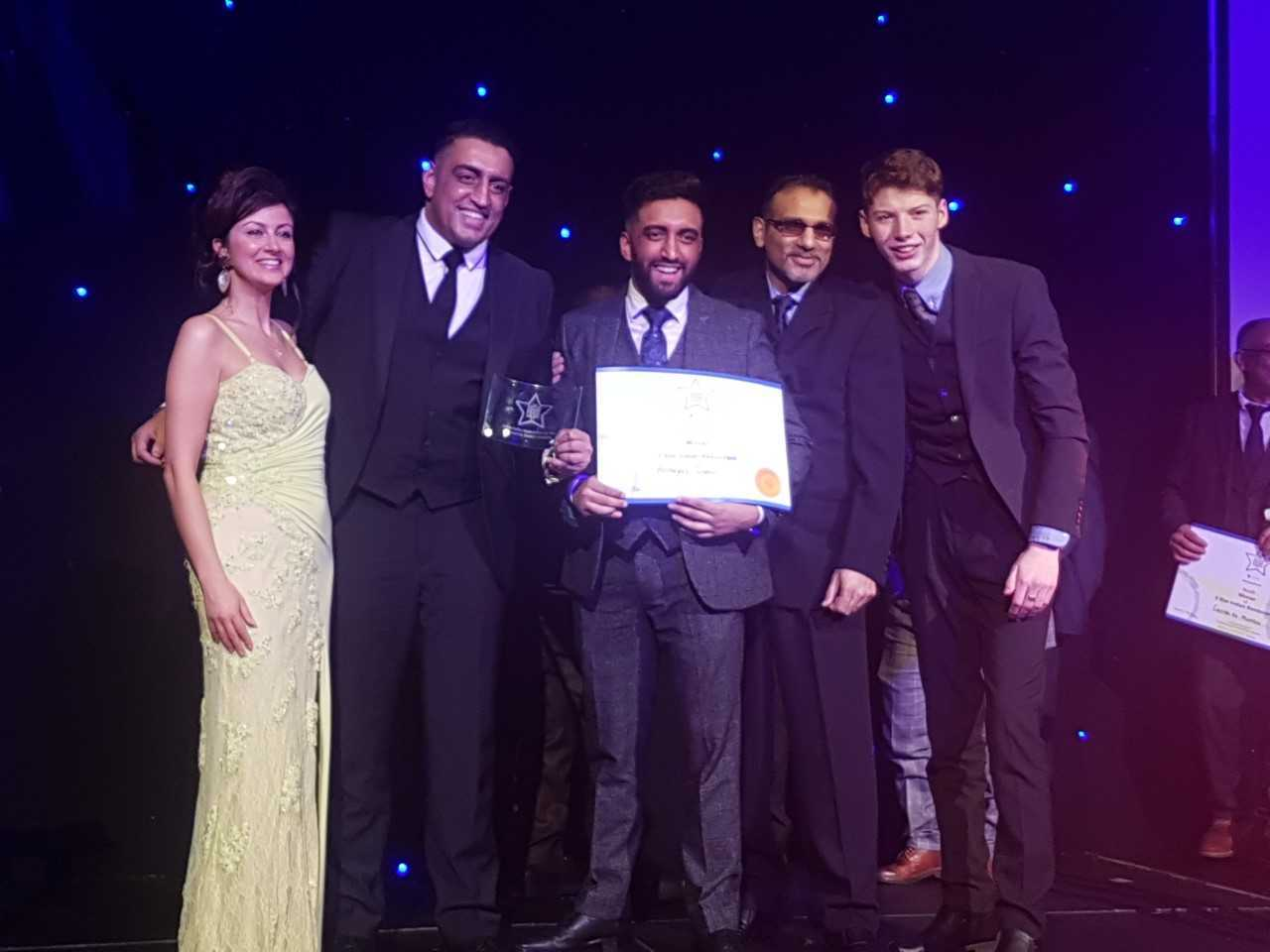 Annaya's pick up their Scottish Asian Food award on Monday night