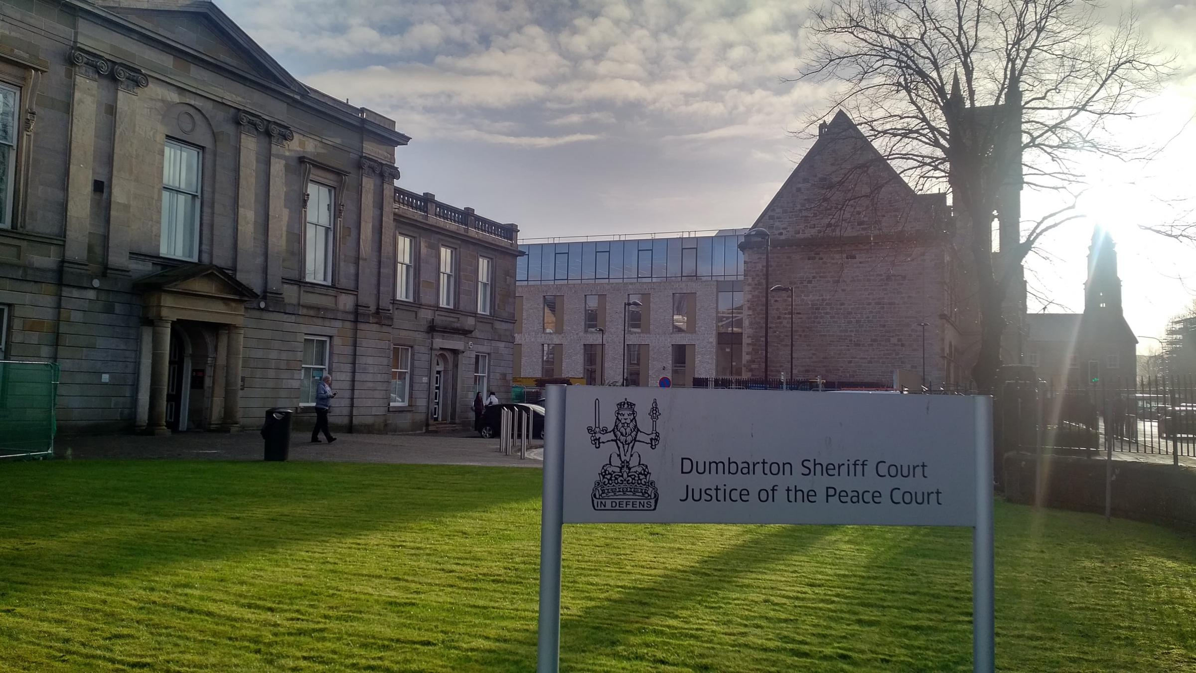 Dumbarton Sheriff Court, where Nathan Bailey appeared on January 7