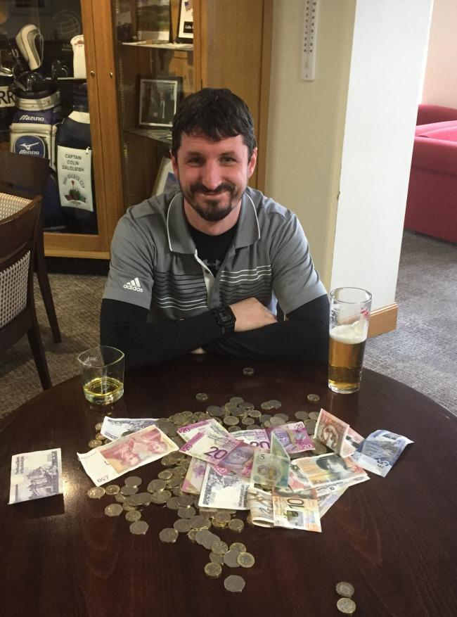 Michael Stephen's hole in won saw him win £500