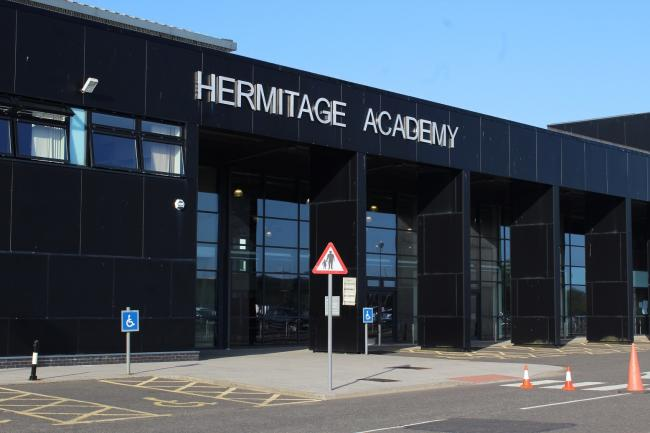 Hermitage Academy pupils protest over learning services cuts