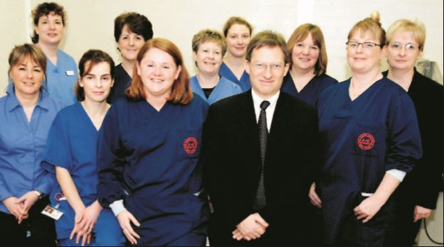 Staff members at the Vale of Leven Hospital's new unit have a wide range of skills