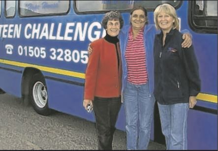 Jan McKerrow (left) with Hannah Reid (right) and supporter Anne Haughie