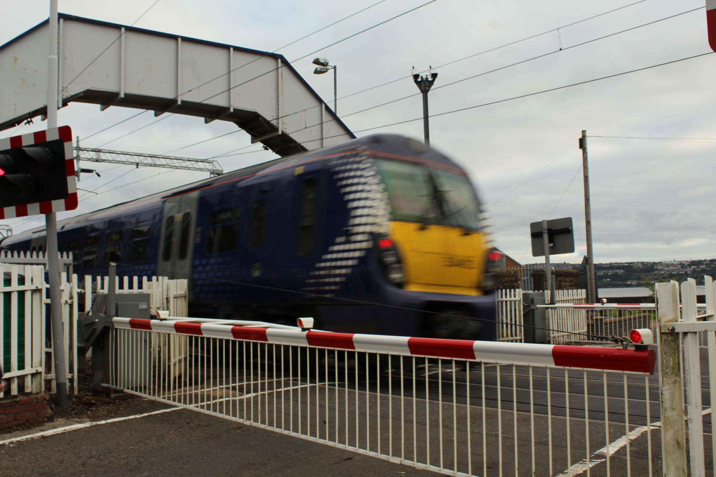 Trains to and from Helensburgh were badly disrupted on Tuesday