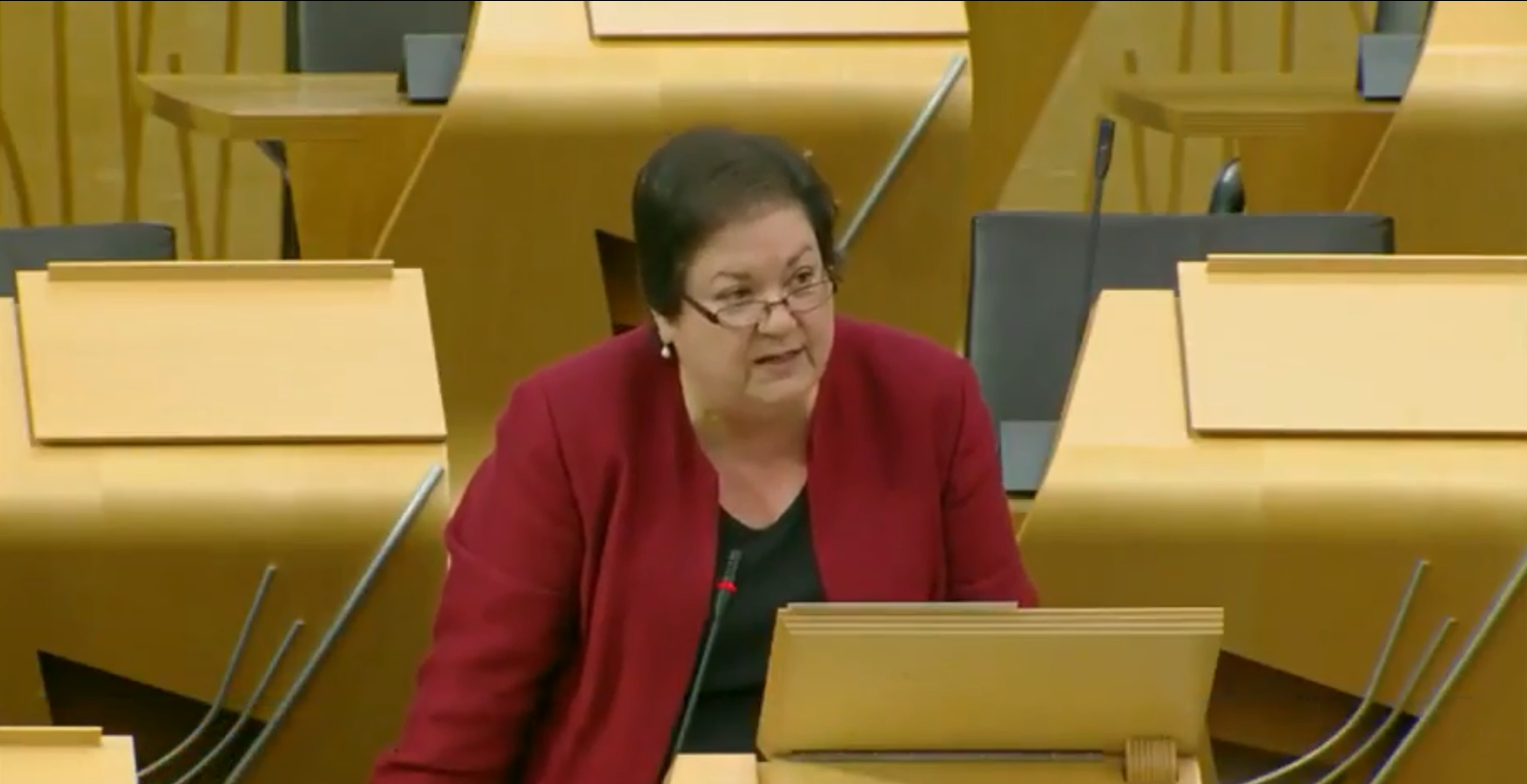 Jackie Baillie MSP addressed ministers at the Scottish Parliament on Thursday