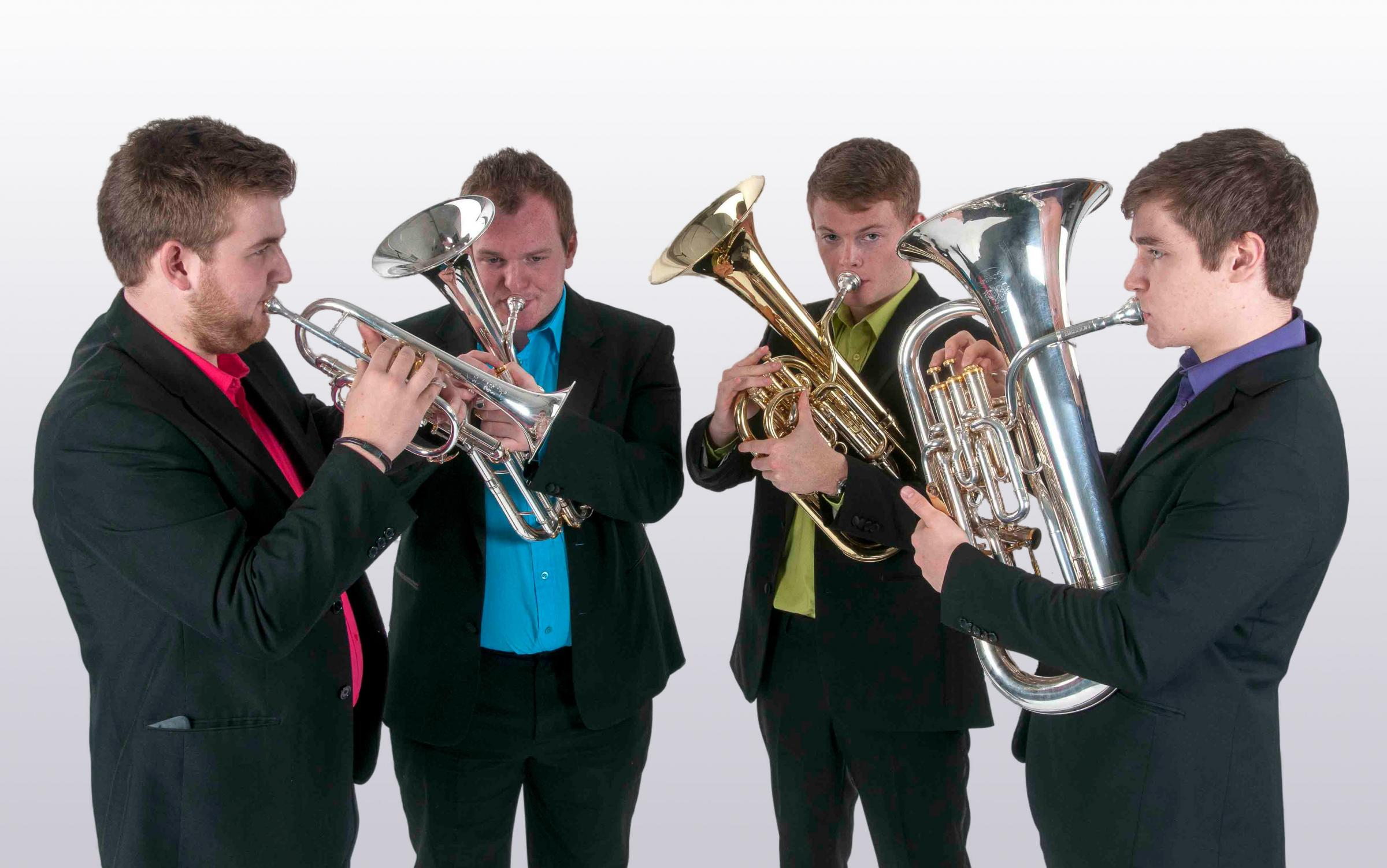 The A4 Brass Quartet will play at the Tower Digital Arts Centre with Helensburgh Music Society on Saturday, February 16