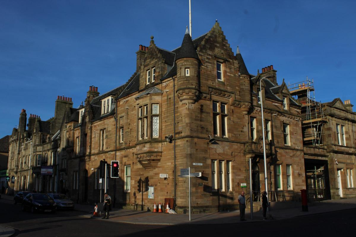 Helensburgh's former Municipal Buildings, on the corner of Sinclair Street and East Princes Street