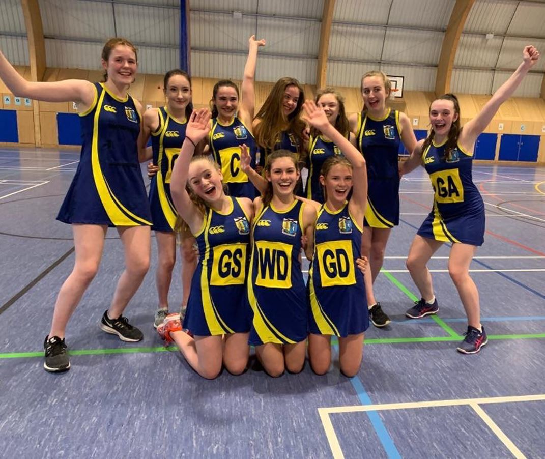 Lomond's S3 netball players celebrate securing their place in the final
