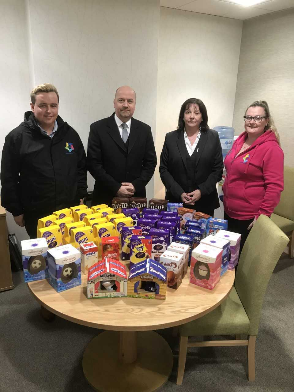 The Easter eggs were presented to members of Helensburgh and Lomond Carers