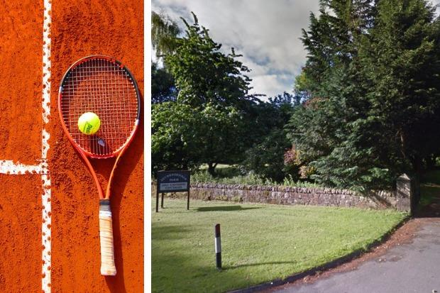 The tennis court will be built at the Auchendennan Farm Cottages