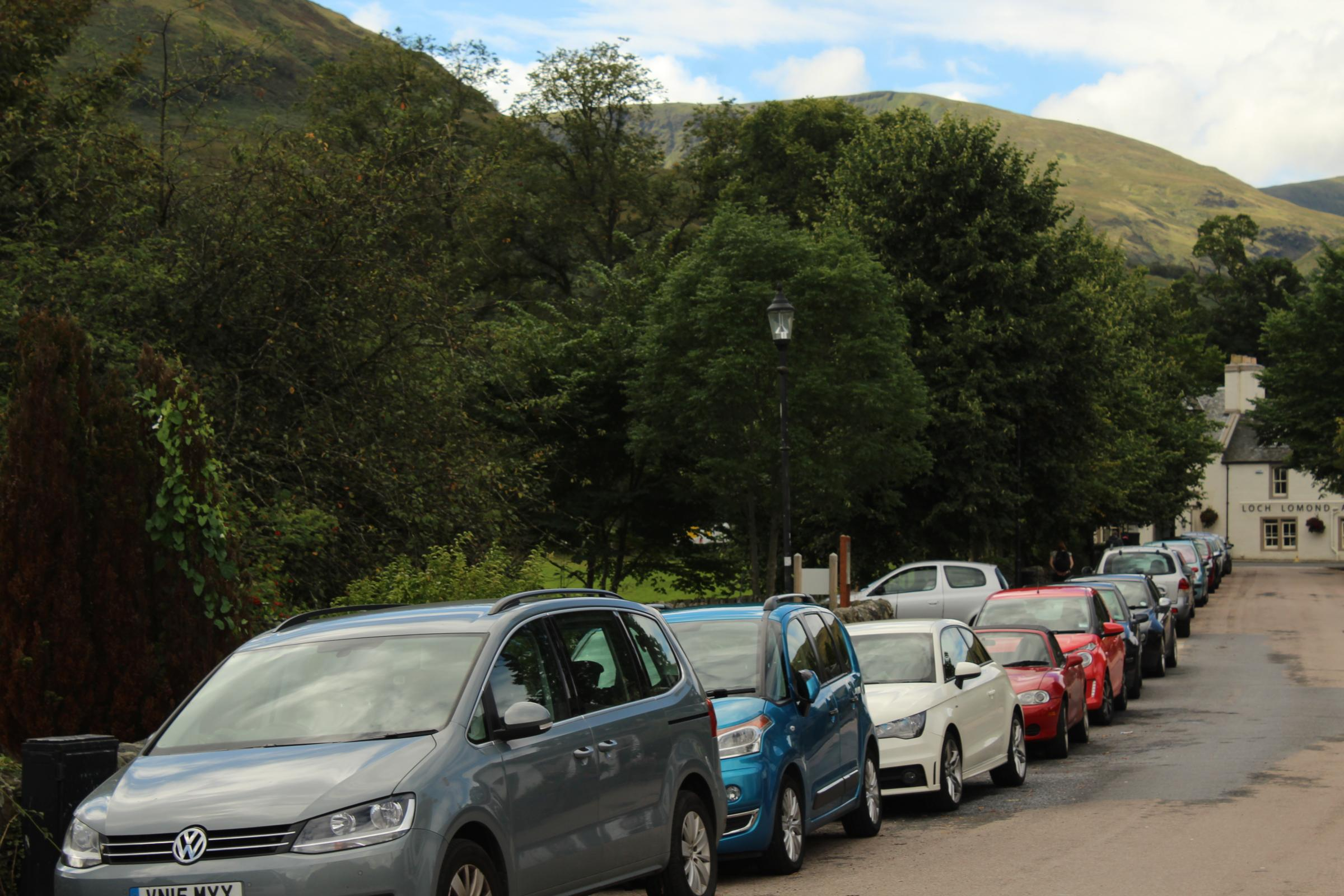 The car park plans could alleviate the problem of parked vehicles clogging up residential streets in Luss