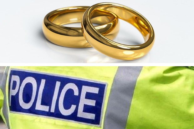The wedding rings were handed into police in Helensburgh