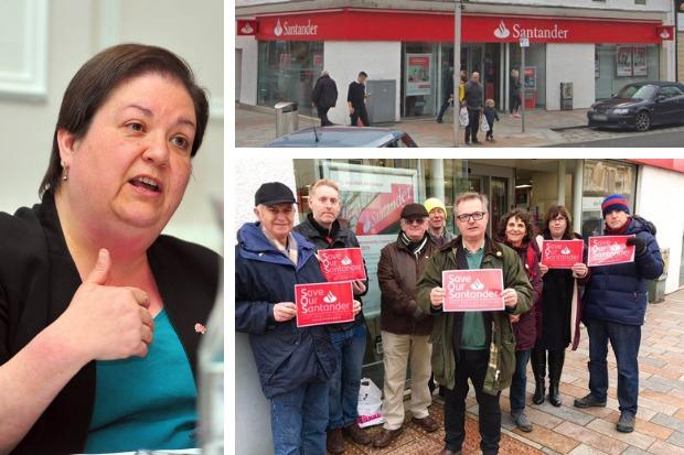 Santander's Helensburgh branch is due to close for the last time on April 25, despite protests from residents and local politicians