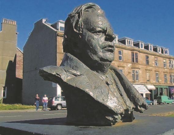 The seafront statue of John Logie Baird