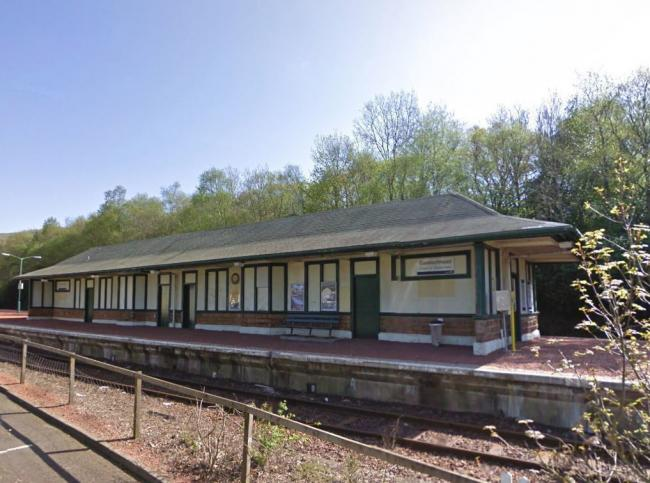 The platform building at Garelochhead railway station (Pic - Street View)
